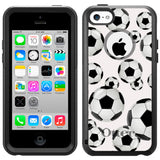 Apple iPhone 5C Soccer Balls Otterbox Commuter Case