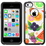 Apple iPhone 5C Colorful Fruits on White Otterbox Commuter Case