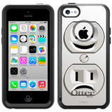Apple iPhone 5C Emotional Electricity Plug Outlet Otterbox Commuter Case
