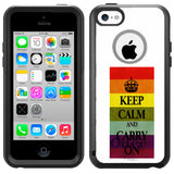 Apple iPhone 5C Gay Pride KEEP CALM Otterbox Commuter Case