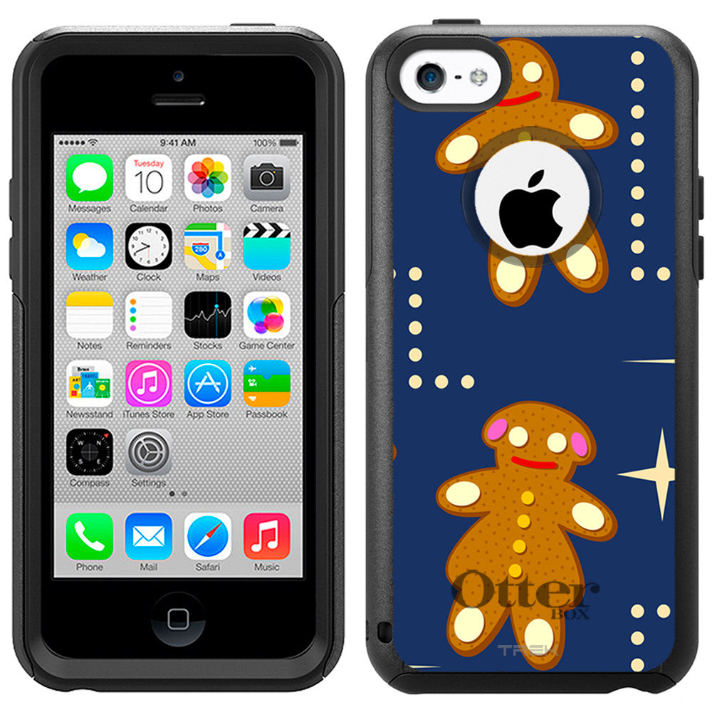 Apple iPhone 5C Gingerbread Men Pattern Otterbox Commuter Case