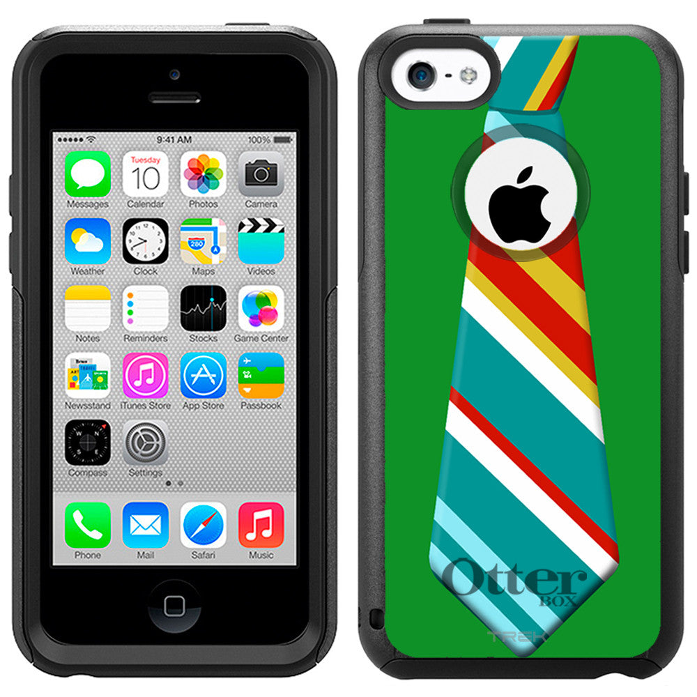 Apple iPhone 5C Christmas Necktie 1 Otterbox Commuter Case