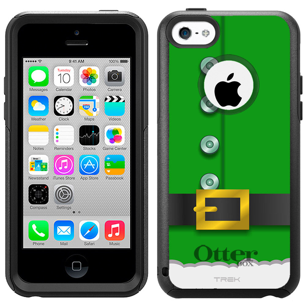 Apple iPhone 5C Green Elf Suit Otterbox Commuter Case