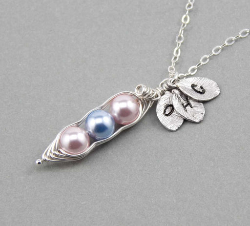 Peas in a Pod Silver Necklace