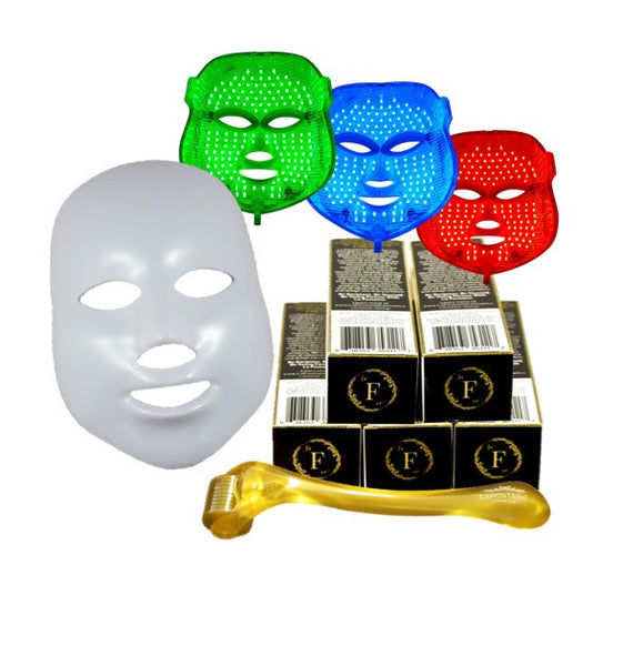 Best Sellers Set - Glitz LED Therapy Anti Aging Mask + 5 DermaDream 0.5 mm Rollers - La Fontaine Cosmetics  - 1