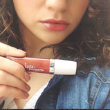 Lucie + Pompette Plumping Lip Batter - Go Go Pink Nude Lip Gloss - La Fontaine Cosmetics  - 6
