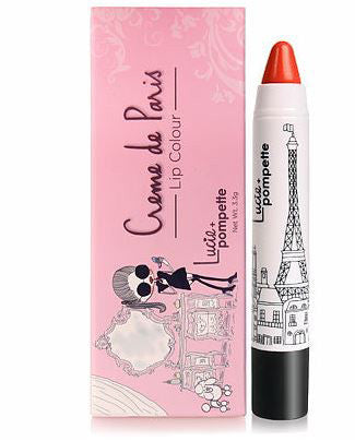 Lucie + Pompette Creme de Paris Lipstick - Cha Cha Matte Orange Red