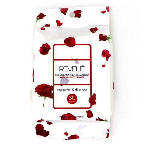 Revelé Rose Granati + Sandalwood Makeup Remover Wipes - 30 Count