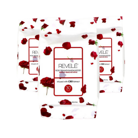 Revelé Rose Granati + Sandalwood Makeup Remover Wipes - 90 Count