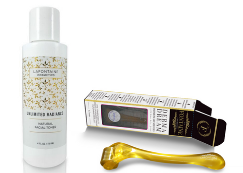 Black Friday 2020 - Unlimited Radiance All Natural Toner + 0.2 + 0.5 mm DermaDream Derma roller