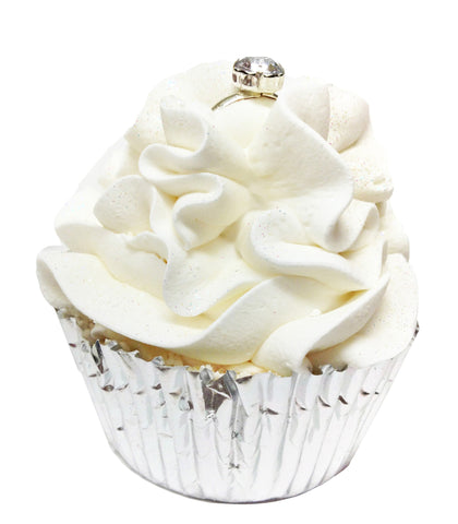 Feeling Smitten Wedding Cake Cupcake Bath Bomb - La Fontaine Cosmetics  - 1