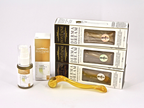 The Perfect Pairing - Transcendence Vit C Serum & 3 DermaDream 0.2 mm Rollers