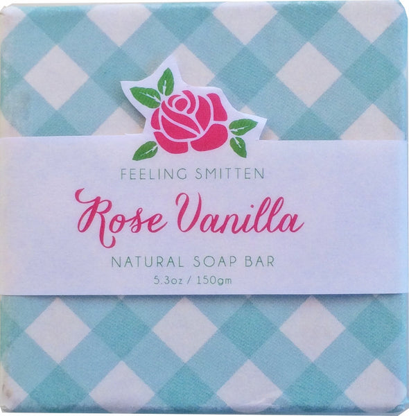 Feeling Smitten Rose Vanilla Soap 5.3 oz Bar - La Fontaine Cosmetics