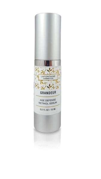 Grandeur Age Defense Retinol Serum - 0.5 fl. oz bottle + 1.0 mm DermaDream Microneedle Roller - La Fontaine Cosmetics  - 1