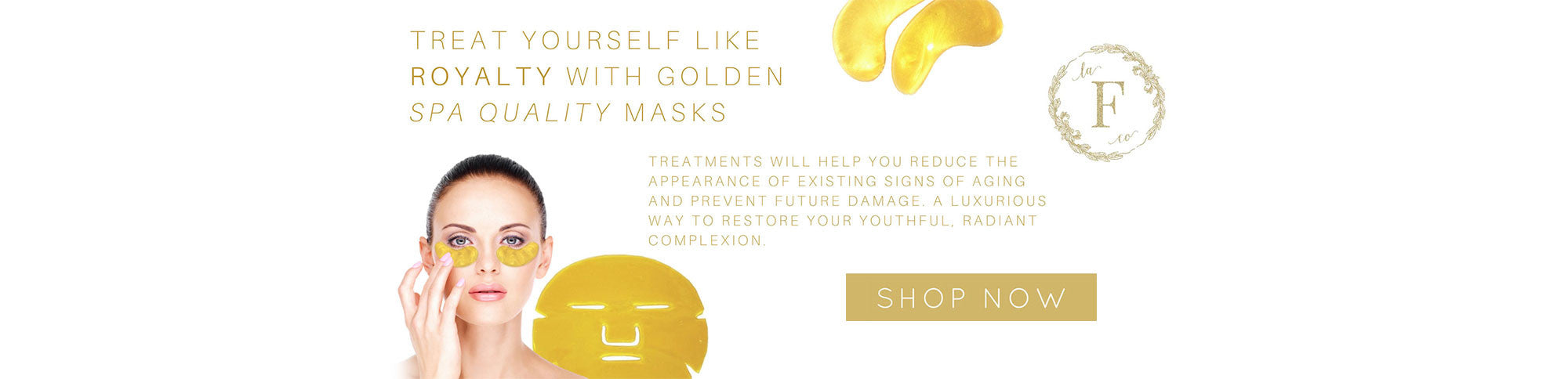 Treat yourself like Royalty with golden SPA quality mask