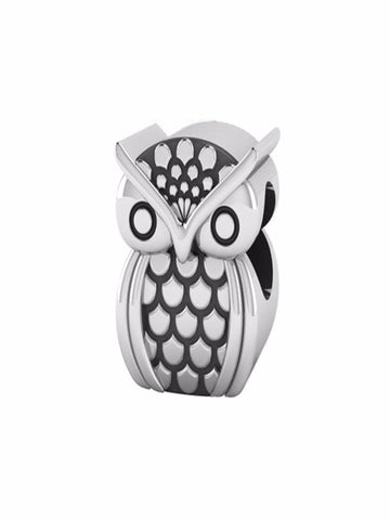 Owl Barrel Bead