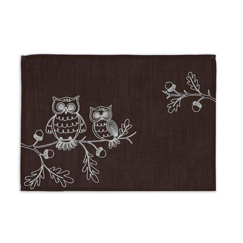 Owls Embroidered Placemat