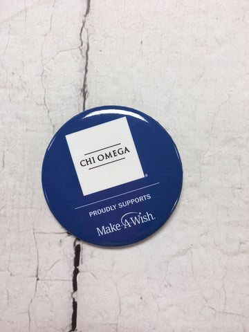 Chi Omega/Make-A-Wish® Button