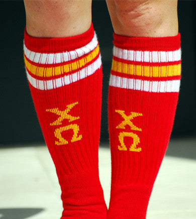 Chi Omega Athletic Socks