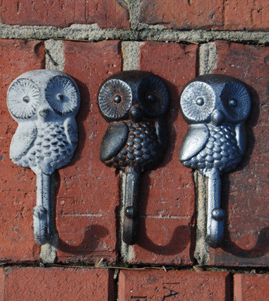 Cast Iron Owl Wall Hook