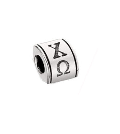 Greek Letter Barrel Bead
