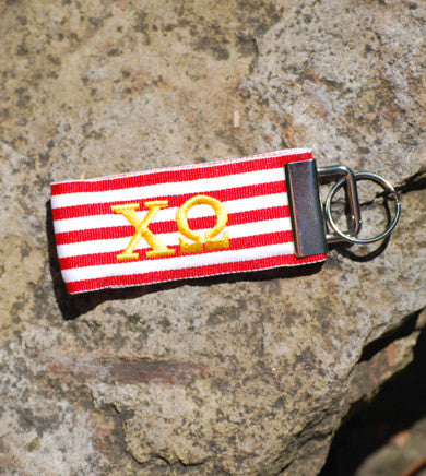 ΧΩ Stripe Ribbon Key Ring