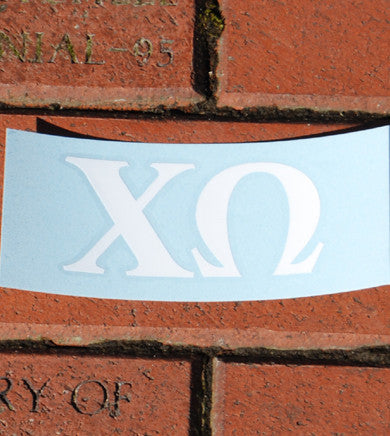 Greek Letter Car Decal