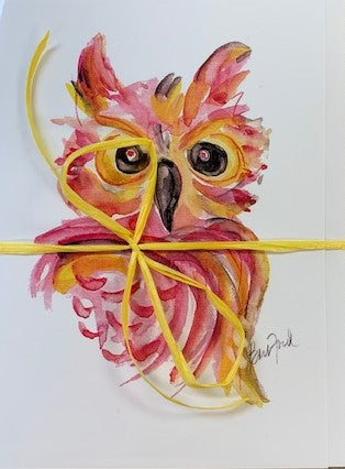 Watercolor Owl notecards (set of 5)