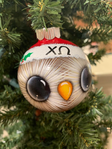 Santa Hat Owl Ornament