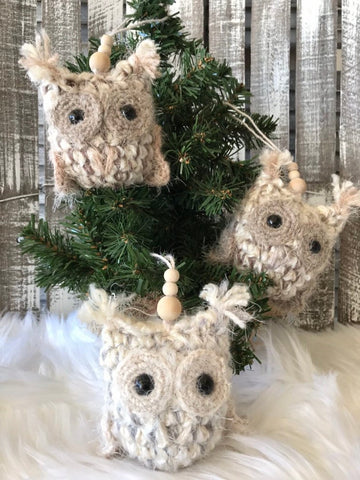 Crochet Owl Ornament