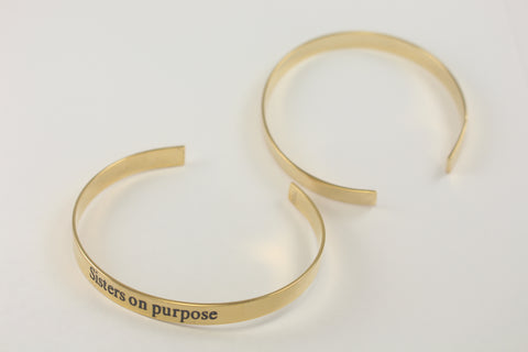 Sisters on purpose Cuff Bracelet