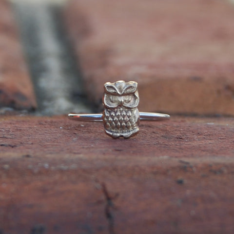 Owl Dainty Ring
