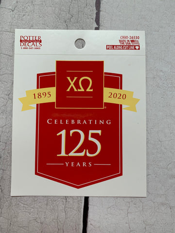 125th Anniversary Decal