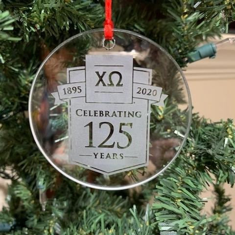 125th Anniversary Glass Ornament