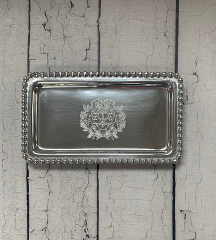 Crest Beaded Statement Tray