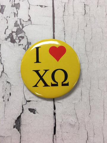 I ♥ ΧΩ Button