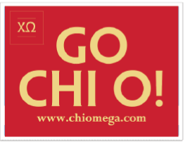Go Chi O Yard Sign