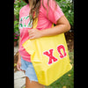 Yellow Traditional Letter Tote