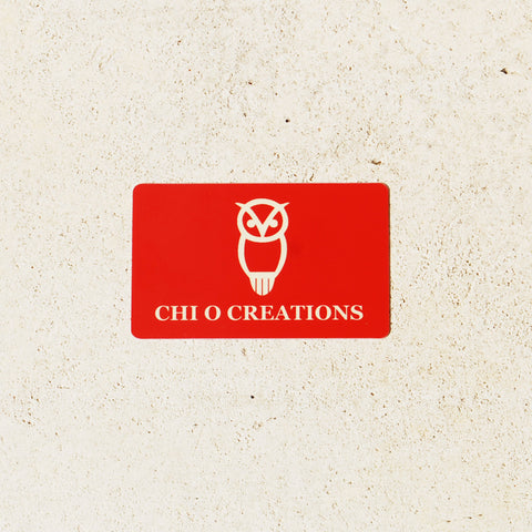 Physical Chi O Creations Gift Card