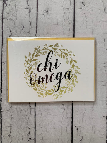 Gold Wreath Notecards (set of 6)