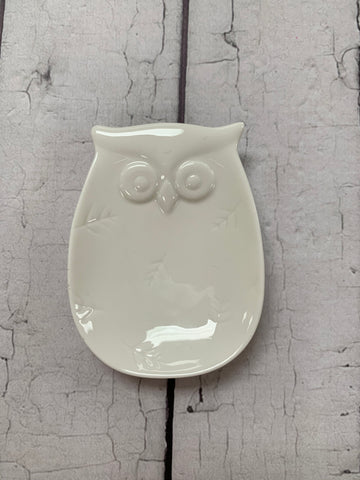 Owl Teabag Plate/Spoon Rest