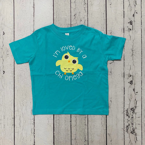 Owl Turquoise Toddler Tee