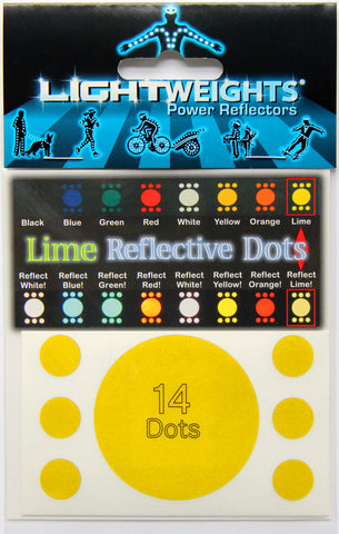 Lightweights Lime Dots 14