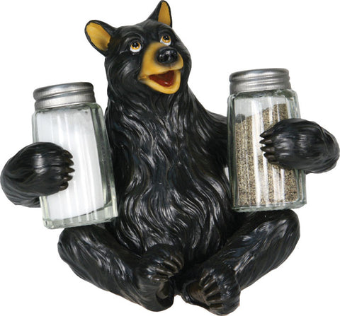 Bear w/Glass S&P Shaker Holders
