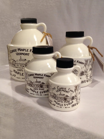 100% Pure Grade A Dark Vermont Maple Syrup