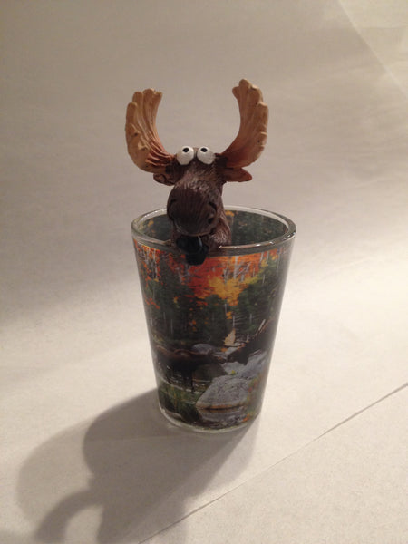 Moose Kisses Shot Glass