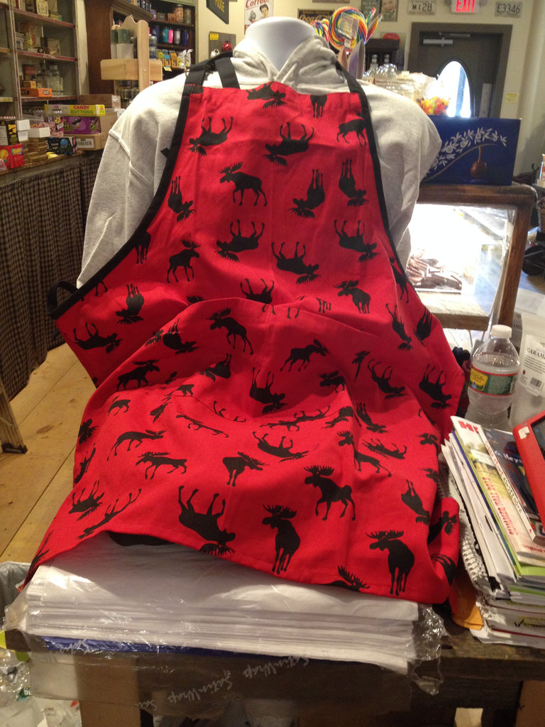 Moose on Red Apron