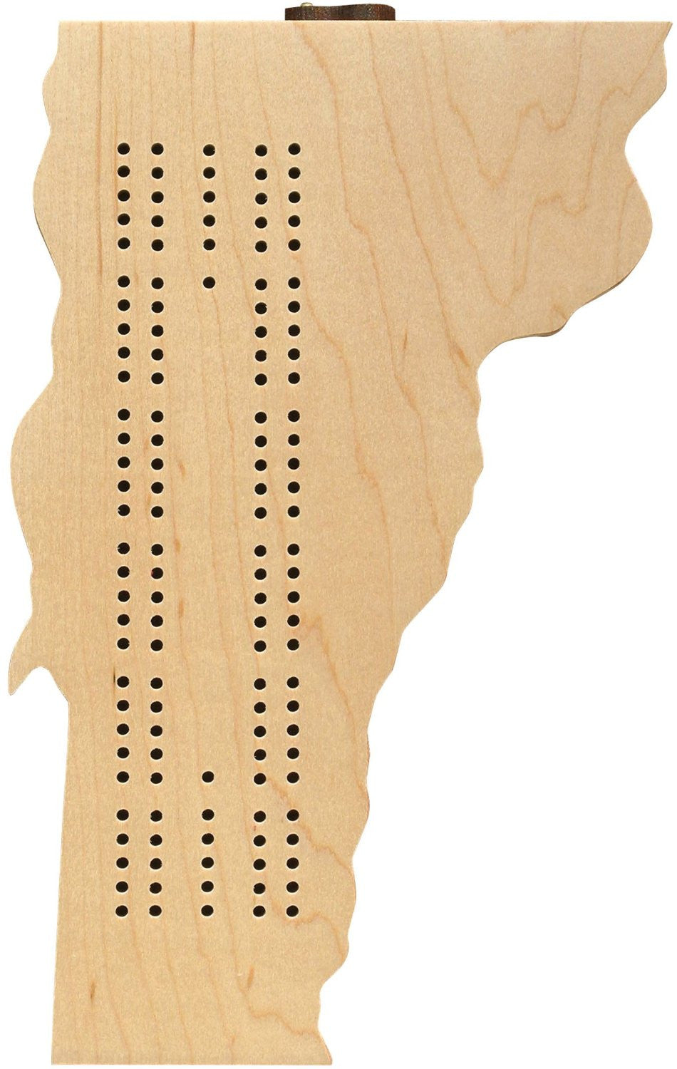 Vermont Shaped Cribbage Board