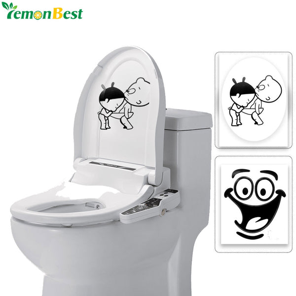 1PC Home Decor Bathroom Wall Stickers Toilet Waterproof Wall Decals For Toilet Decorative Wall Sticker For Kids Rooms Decoration