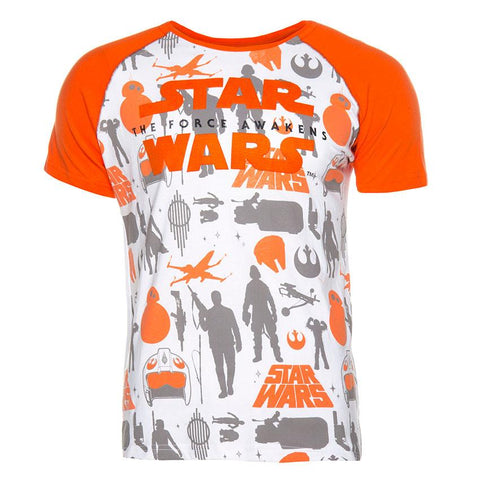 Playera Star Wars the Force Awakens Naranja